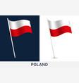 poland flag waving national flag poland vector image vector image