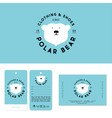polar bear logo clothing shoes label business card vector image vector image