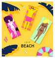 poster summer beach vector image vector image