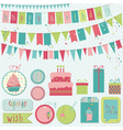 retro birthday celebration vector image vector image