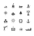 Sea port icons set vector image vector image