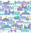 Seamless pattern with houses vector image