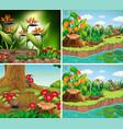 set background scene with nature theme