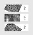 set of geometric banners black and white vector image
