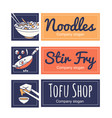 Set of restaurant and food logo template