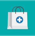 shopping bag for medical pills and bottles vector image vector image