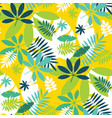 simple green tropical leaves design pattern vector image vector image