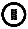 spring coil icon black color in round circle vector image vector image