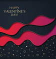 the valentine s day cut paper effect background vector image vector image