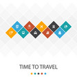 time to travel trendy ui template infographics vector image vector image
