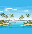 tropical landscape with boat vector image vector image