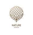 tropical plant logo vector image