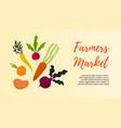vegetables banners farmer market fall veggies vector image vector image