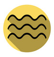 waves sign flat black icon vector image