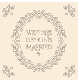 We are getting married card Monogram Beige vector image vector image