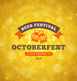 Octoberfest Celebration Retro Style Badge Template vector image