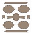 Set leather ribbons vintage labels geometric vector image