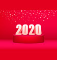 2020 happy new year advertising banner vector image vector image