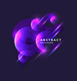 abstract banner with neon circle on a dark vector image vector image