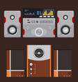 acoustic sound system stereo flat music vector image vector image