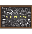Action Plan on chalkboard vector image vector image
