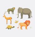 african animals cartoon set vector image vector image