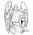 archangel gabriel line art vector image vector image