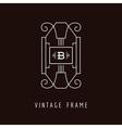 Art Deco Style Elegant Monogram - Design Template vector image vector image