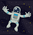 astronaut flying on space vector image vector image