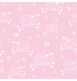 Baby shower cartoon pattern vector image