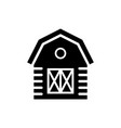 barn icon design template isolated vector image vector image