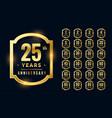 big set premium anniversary logotype in golden vector image vector image