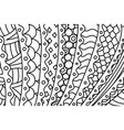 black and white pattern for coloring book pages vector image vector image