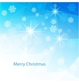 Blue Christmas background with texture triangle vector image
