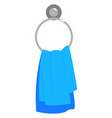 blue towel on white background vector image