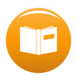 book inverted icon orange vector image vector image