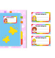 book label stickers for kids beautiful girls