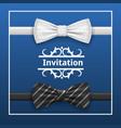 bowtie invitation concept background realistic vector image