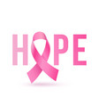 breast cancer awareness month pink ribbon women vector image vector image