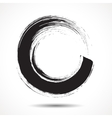 Brush painted black ink circle vector image vector image