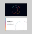 business-card-letter-j vector image vector image