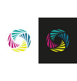circle swirl technology colored logo vector image