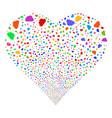 cloud fireworks heart vector image vector image