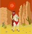 Cowboy on horseback vector image