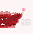 creative love to travel valentines day concept vector image vector image