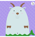 cute big fat capricorn zodiac cartoon vector image vector image