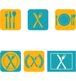 Cutlery flat design vector image vector image