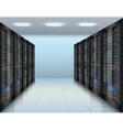 Data center background vector image vector image