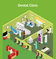 dentistry interior with furniture isometric view vector image vector image