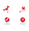 devil logo red icon template vector image